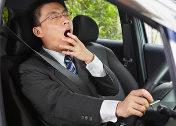 Yawning while driving